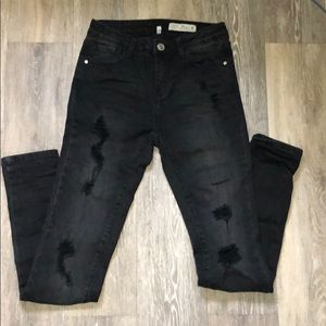 Black ripped jeans from Papaya